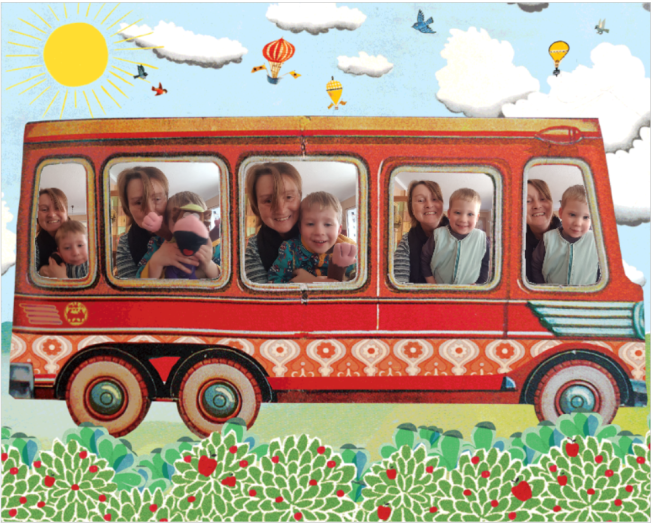 collage bus
